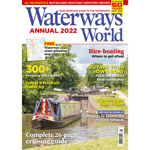 Waterways World 2021 Annual and map
